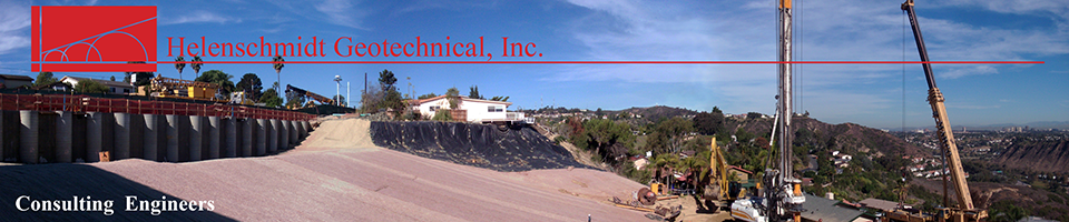 Helenschmidt Geotechnical, Inc. - Consulting Engineers located in Carlsbad, California - Serving San Diego, Orange, Los Angeles, Ventura, Riverside, San Bernardino Counties
